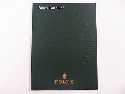 ROLEX DATEJUST Watch Instruction Booklet Manual ENGLISH 1999-2005: FREE SHIPPING