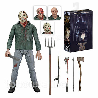 NECA Friday the 13th Part 3 - Jason Voorhees Ultimate Actionfigur  NEU / OVP