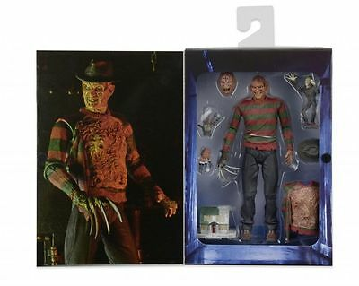 FREDDY KRUEGER Ultimate Deluxe Figur 18cm  NECA Elm Street 3 Dream Warriors Neu