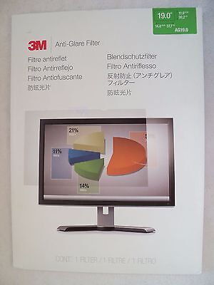 "3M 19.0 Anti-Glare Filter for Laptop and LCD Monitors - 19"" AG19.0"