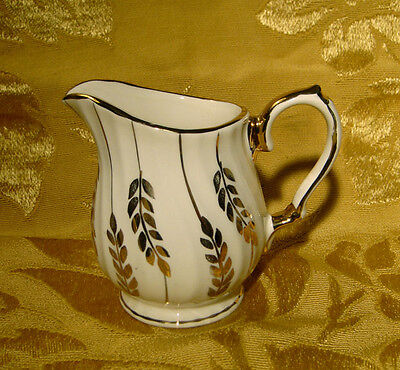 Vintage Sadler Creamer Gold Laurel Swirled Made In England
