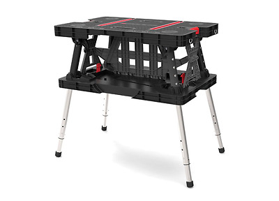 Keter 21.65 x 33.46 x 33.7-inch Adjustable Folding Compact Table Work Station