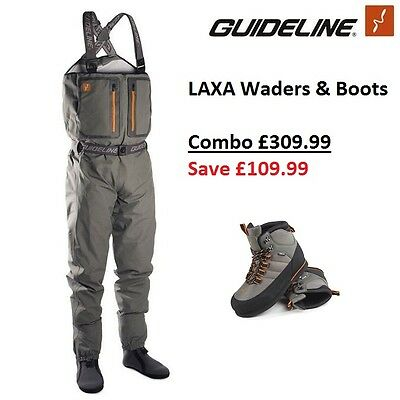 Guideline LAXA Breathable Chest Waders AND Laxa Boots Combo * 2017 Stocks *