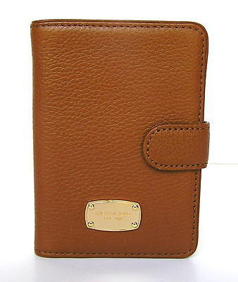Michael Kors Jet Set Leather Passport Case Holder Wallet Luggage Brown New NWT