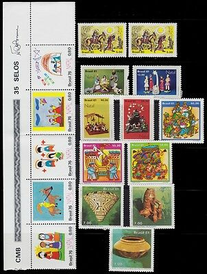1961 -1981 Brazil Mint Never Hinged Lot Complete Series + 2 Used Isue 2 Scan