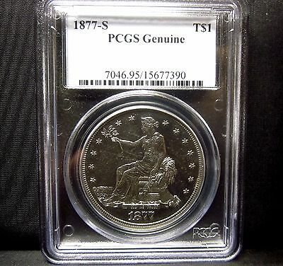1877-S $1 Trade Dollar ✪ Pcgs Unc Details ✪ Uncirculated L@@k Now ◢Trusted◣
