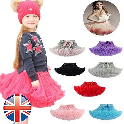 *UK Seller* Girls + Adult Tutu Rara Skirt Dress Petticoat Layers Ballerina Dance