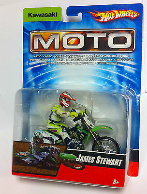 Hot Wheels 2007 Moto James Stewart #7 Kawasaki Team Monster 1:18  NEU / OVP