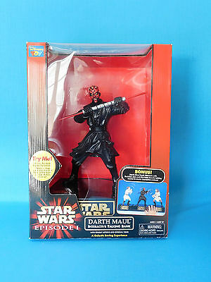 Star Wars Episode 1 Darth Maul Interactive Talking Bank NIB QUI-GON JINN INTER