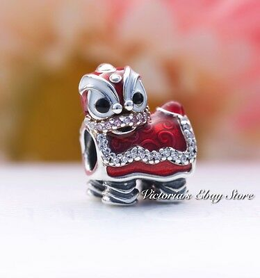 Authentic Pandora Chinese Lion Dance Silver Charm 792043CZ  [LIMITED EDITION]