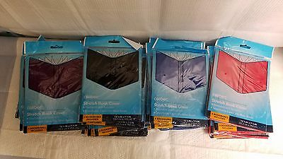 Lot Of 24 Caliber Stretch Book Covers Sleeves Socks Red Blue Black Purple