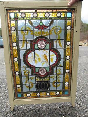 *EXCEPTIONAL* 1800s PAIR of ANTIQUE AMERICAN CLASSICAL LEADED WINDOWS