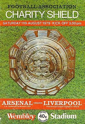 Arsenal v Liverpool - FA Charity Shield - 11 August 1979