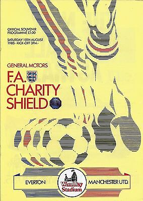 Everton v Manchester United - FA Charity Shield - 10 August 1985