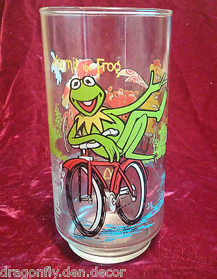 McDonalds Collectible Drinking Glass Kirmit the Frog The Great Muppet Caper 1981