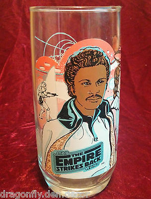 Burger King Collectible Drinking Glass The Empire Strikes Back Lando Calrissian