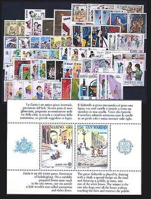 Cept Europa 1989 ** Annata Completa MNH year beautiful and complete 171,00
