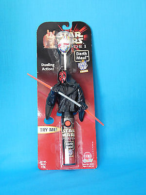 Star Wars Episode 1 Darth Maul SPIN TOP CANDY DUELLING ACTION FIGURE NIP