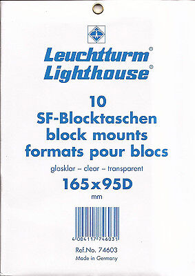 Lighthouse Clear Stamp Mounts - 165mmx95mm 'D' -10 per pkg-new - Free Ship