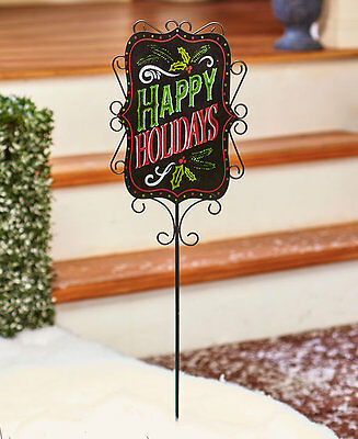 9-Pc. Interchangeable Seasonal Yard Stake Welcome Holiday Messages Lawn Signs
