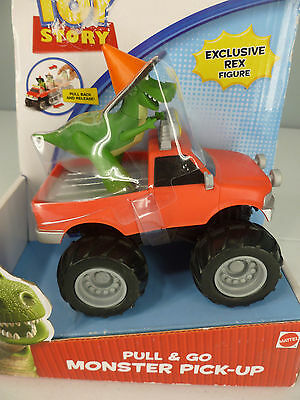 Disney Pixar Toy Story Pull & Go Monster Pick-Up With Exclusive Rex Figure NEW