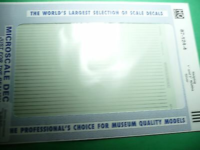 """Microscale Decal #91111 Stripping 1/"""" and 2/"""" Widths White 1:87 Scale"""