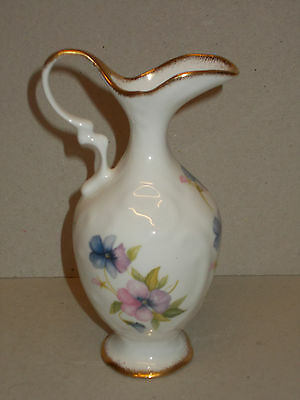 Small Fenton China, Ornamental Jug with Floral Design and Guilding - Lovely