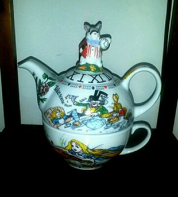 Alice in Wonderland Teapot 16oz 10oz cup By Cardew Design New
