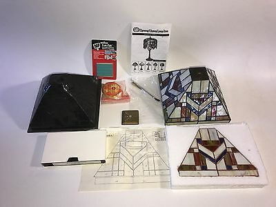 """Stained Glass Lamp Kit Tiffany Dynasty 9"""" Glass Included!!  Mission 136 Pieces"""