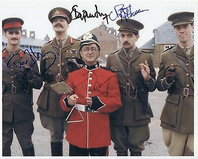 Black Adder Multi Signed Cast Atkinson Robinson Fry Mcinnerney  10-8  Photo
