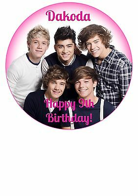Edible Cake / Cupcake Toppers ONE DIRECTION - Highest Australian Quality