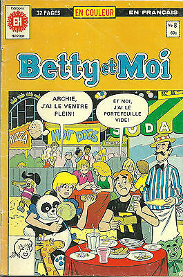 Betty and Me - BETTY et MOI #8 (editions heritage 1980) french comic book * VG+