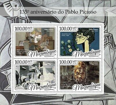 Z08 IMPERFORATED MOZ16419a MOZAMBIQUE 2016 Pablo Picasso MNH ** Postfrisch