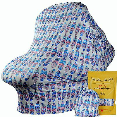 4 - 1 Baby Car Seat Canopy Infant Nursing Cart Chair Stroller Cover Shower Gift