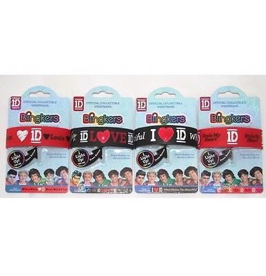 4 x One Direction Official Collectible Flashing Wristband Ideal gift