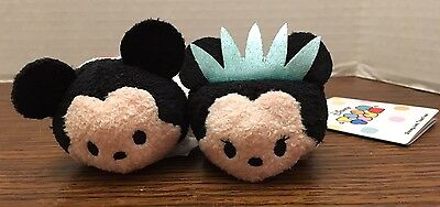 US Disney I Love New York Mickey and Statue of Liberty Minnie Mini Tsum Tsum NWT