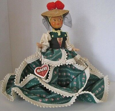 Gorgeous Doll From Austria With Tag by Baitz Dress is for Serving Buns