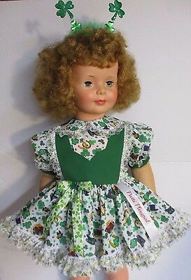 "1959-60 IDEAL 35"" Patti Playpal, Honey Blonde Curly Bob Hair, Green Eyes"