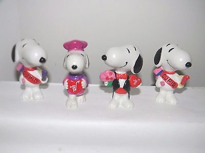 Valentine Peanuts PVC Figures~Snoopy as Cupid+Whitmans Snoopy with Candy & Tux