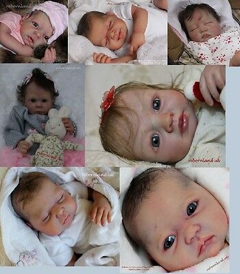 5 Mixed Unpainted Reborn Doll Kits. Buy In Bulk!