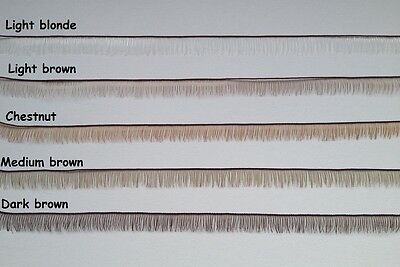 Reborn Doll Eyelash  In 5 Colours - 200Mm X 6Mm