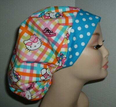 Hello Kitty Beach Summertime OR Surgical Bouffant Scrub Hat CNOR CORT CRNA