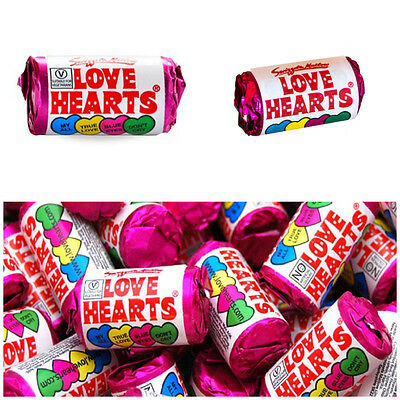 99p - £21.15 MINI LOVE HEARTS RETRO SWEETS WEDDING PARTY BAG FILLERS HEN FAVOURS