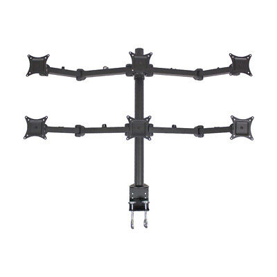 Hex LCD Monitor Desk Mount Stand Heavy Duty Adjustable 6 Screens upto 24""