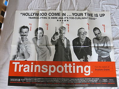 Trainspotting Original 1996 Quad Film Poster Folded as issued 30 x 40 inches