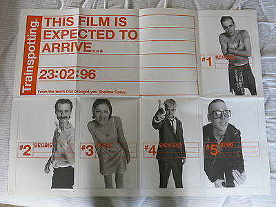 Trainspotting Original 1996 Advance Quad Film Poster Folded 30 x 40 inches