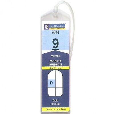 NARROW CruiseTags™ Cruise Ship Luggage Tag printout holders - set of 4