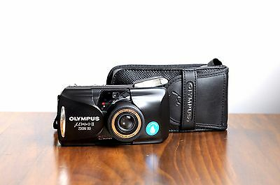 OLYMPUS MjU II Zoom 80 ,  35mm film Point and Shoot , aka Stylus Epic II  * EXC
