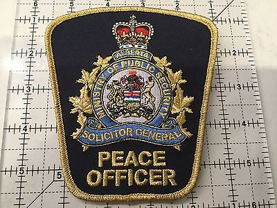 Canada Alberta Patch Solicitor General Peace Officer