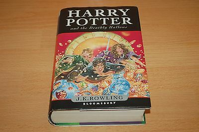 Harry Potter And The Deathly Hallows Uk 1St Edition First Print Hardback Book